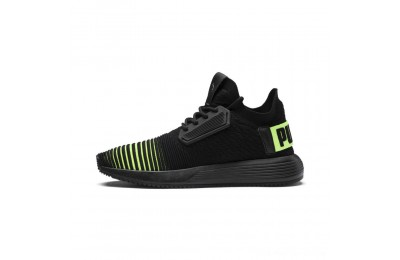 Black Friday 2020 Puma Uprise Color Shift JR Sneakers Black-Limepunch Outlet Sale