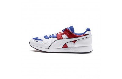 Puma RS-100 Sound Men's Sneakers Dazzlin Blu-HghRiskRed-White Outlet Sale
