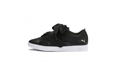 Black Friday 2020 Puma PUMA Smash Women's Buckle Sneakers Black- White Outlet Sale