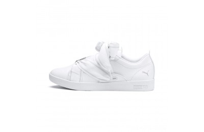 Black Friday 2020 Puma PUMA Smash Women's Buckle Sneakers White- Silver Outlet Sale