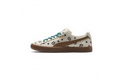 Puma PUMA x TYAKASHA Clyde Graphic Sneakers Birch Outlet Sale