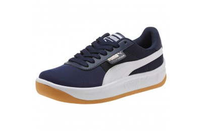 Puma California Casual Sneakers JRPeacoat- White- Gold Outlet Sale