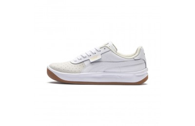Black Friday 2020 Puma California Exotic Women's Sneakers Whisper White- White- Gold Outlet Sale
