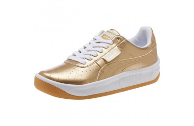 Puma California Metallic Sneakers JR Team Gold- White Outlet Sale