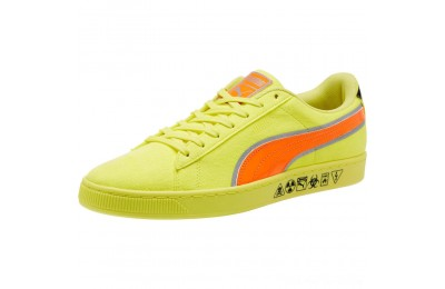 Puma Puma Hazard Yellow Suede Sneakers Lemon Tonic-Shocking Orange Outlet Sale