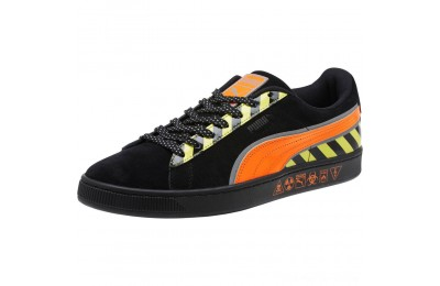 Black Friday 2020 Puma Suede Hazard Sneakers Black-Shocking Orange Outlet Sale