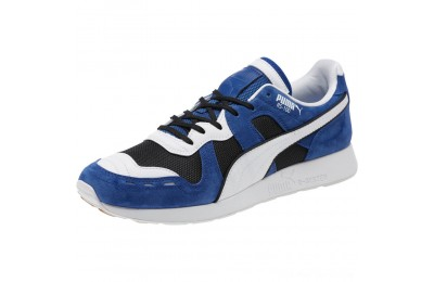 Puma RS-100 Nubuck Sneakers Black-Sodalite Blue-White Outlet Sale