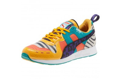 Puma RS-100 Animal Sneakers White-Zinnia-Cherry Tomato Outlet Sale