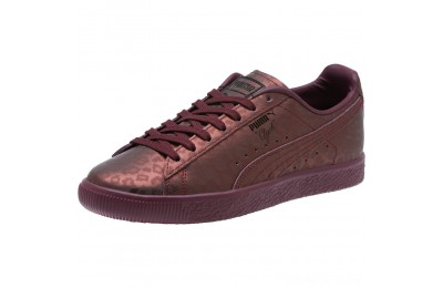 Puma Clyde Sheer Animal Women's Sneakers Fig- Black Outlet Sale