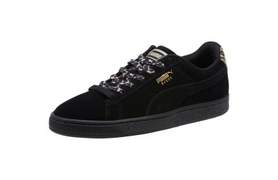 Black Friday 2020 Puma Suede Wild Women's Sneakers Black- Gold-Pebble Outlet Sale