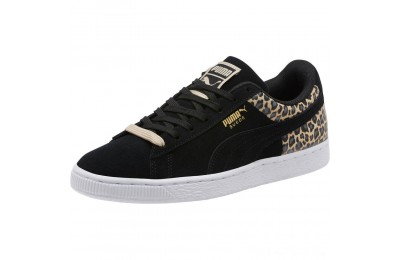 Puma Suede Wild Qtr Women's Sneakers Black- Team Gold Outlet Sale