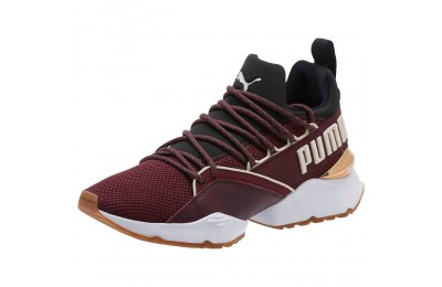 Puma Muse Maia Smet Women's Sneakers Fig- Black-Birch Outlet Sale