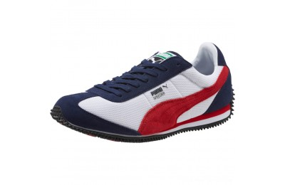 Puma Speeder Mesh Unisex Sneakers P White-Ribbon Red-Peacoat Outlet Sale