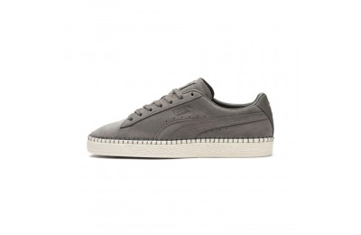Black Friday 2020 Puma Suede Classic Blanket Stitch Sneakers Charcoal Gray-Whisper White Outlet Sale