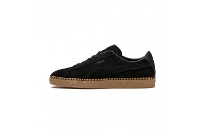 Puma Suede Classic Blanket Stitch Sneakers Black-Gum Outlet Sale