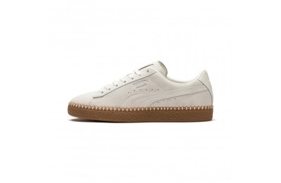 Puma Suede Classic Blanket Stitch Sneakers Whisper White-Gum Outlet Sale