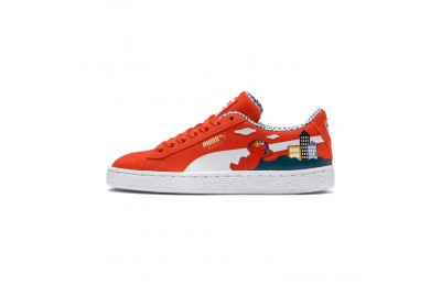 Puma Sesame Street 50 Suede Sneakers PSCherry Tomato- White Outlet Sale