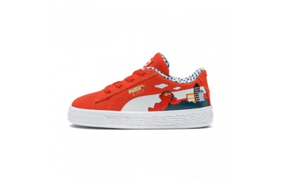 Black Friday 2020 Puma Sesame Street 50 Suede Sneakers INFCherry Tomato- White Outlet Sale