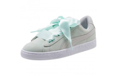 Puma Suede Heart Radicals Sneakers JRFair Aqua-Gray Violet Outlet Sale