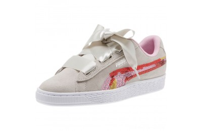 Puma Suede Heart Trailblazer Sequin Sneakers JRGray Violet-Pale Pink Outlet Sale