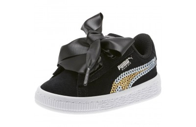 Black Friday 2020 Puma Suede Heart Trailblazer Sequin Sneakers PS Black- Team Gold Outlet Sale