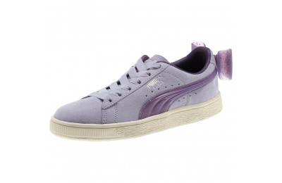 Black Friday 2020 Puma Suede Jelly Bow Sneakers JRSweetLavender-Indigo-White Outlet Sale