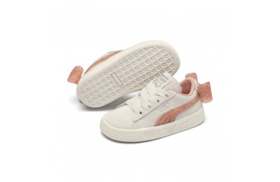 Black Friday 2020 Puma Suede Jelly Bow AC Sneakers INFWhite-Peach Bud-Silver Outlet Sale