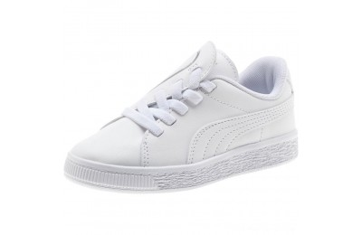 Puma Basket Crush AC Sneakers PS White- Silver Outlet Sale