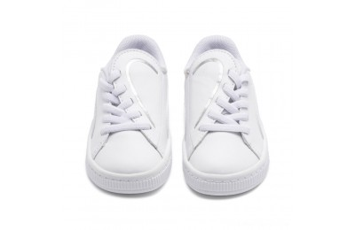 Puma Basket Crush AC Sneakers INF White- Silver Outlet Sale