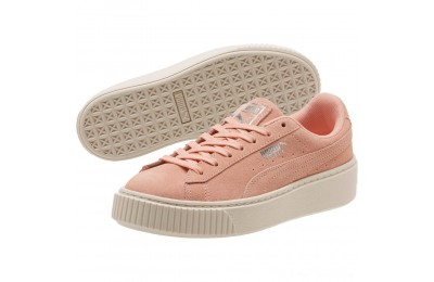 Black Friday 2020 Puma Suede Super Jewel Platform Sneakers JRPeach Bud-Whisper White Outlet Sale