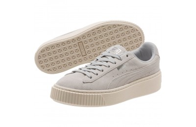 Black Friday 2020 Puma Suede Super Jewel Platform Sneakers JRGray Violet-Whisper White Outlet Sale