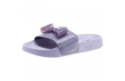 Puma Leadcat Jelly Bow Slide Sandals JRIndigo-Sweet Lavender Outlet Sale