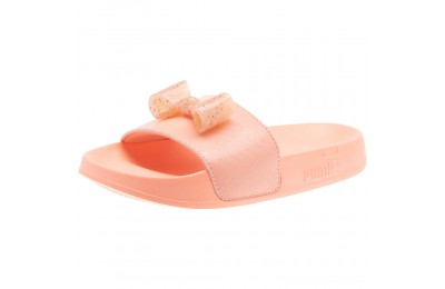 Puma Leadcat Jelly Bow Slide Sandals PSPeach Bud-Bright Peach Outlet Sale