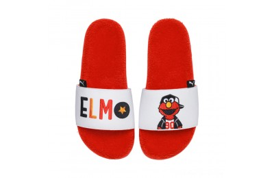 Puma Sesame Street 50 Leadcat Slide Sandals PSCherry Tomato- White Outlet Sale