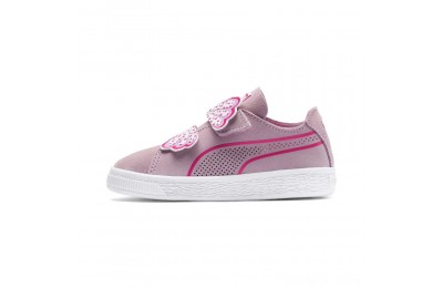 Puma Suede Deconstruct Butterfly Sneakers INFPale Pink-Fuchsia Purple Outlet Sale