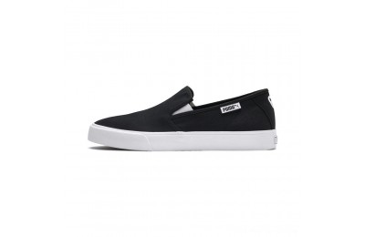 Black Friday 2020 Puma Bari Slip-On Unisex Shoes Black- White Outlet Sale