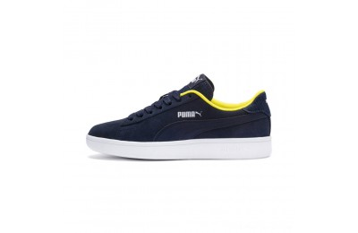 Puma PUMA Smash v2 Denim Sneakers JRPeacoat- W-Blazing Yello Outlet Sale