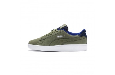 Puma PUMA Smash v2 Denim Sneakers JROlivine-Surf The Web Outlet Sale