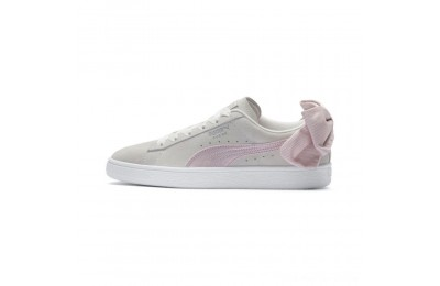 Puma Suede Bow Hexamesh Women's Sneakers Marshmallow-Pale Pink Outlet Sale
