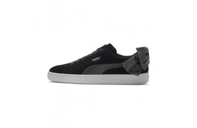 Black Friday 2020 Puma Suede Bow Hexamesh Women's Sneakers Black-Dark Shadow Outlet Sale