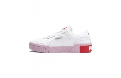 Black Friday 2020 Puma Cali Women's Sneakers White-Pale Pink Outlet Sale