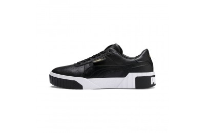 Black Friday 2020 Puma Cali Women's Sneakers Black- White Outlet Sale