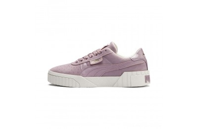 Black Friday 2020 Puma Cali Nubuck Women's Sneakers Elderberry Outlet Sale