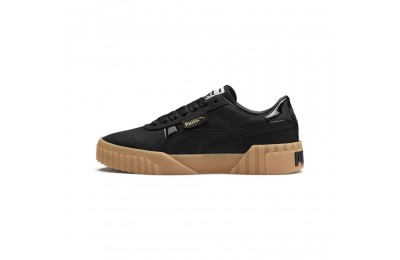 Puma Cali Nubuck Women's Sneakers Black- Black Outlet Sale