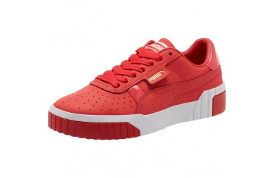 Puma Cali Nubuck Women's Sneakers Hibiscus - White Outlet Sale