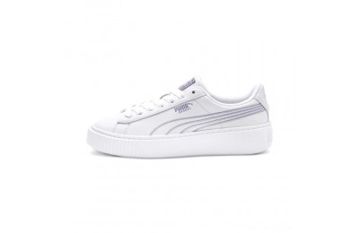 Black Friday 2020 Puma Basket Platform Twilight Women's Sneakers White-Sweet Lavender Outlet Sale
