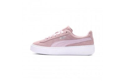 Puma Suede Platform Galaxy Women's Sneakers Pale Pink- Silver Outlet Sale
