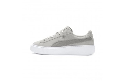 Puma Suede Platform Galaxy Women's Sneakers Gray Violet- Silver Outlet Sale