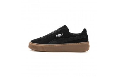 Black Friday 2020 Puma Suede Platform Galaxy Women's Sneakers Black-Gum Outlet Sale