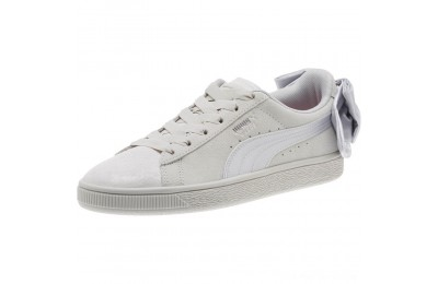 Puma Suede Bow Galaxy Women's Sneakers Gray Violet- Silver Outlet Sale